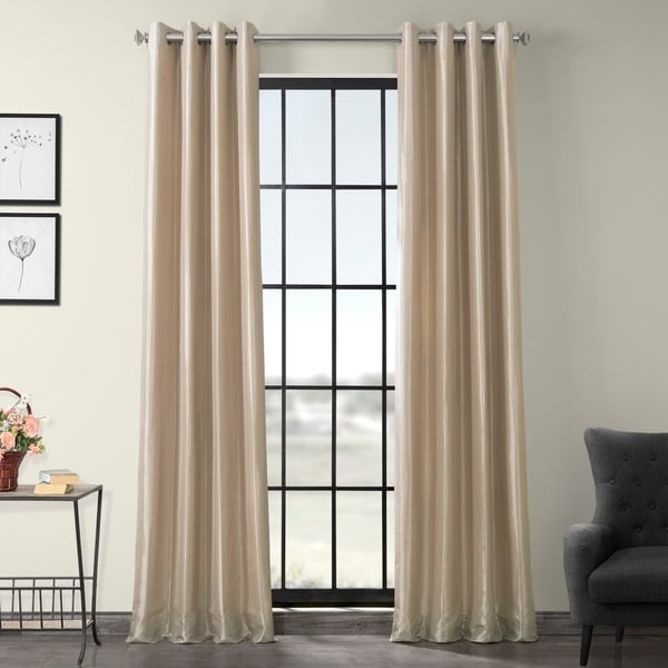 Exclusive Fabrics Grommet Blackout Faux Silk Taffeta 108-inch Curtain