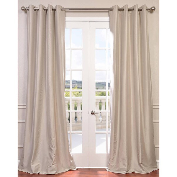 exclusive fabrics grommet blackout faux silk taffeta 108 inch length curtain free shipping. Black Bedroom Furniture Sets. Home Design Ideas