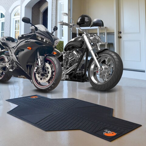 Fanmats Cleveland Browns Black Rubber Motorcycle Mat