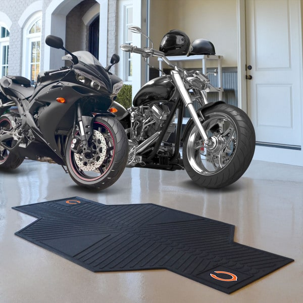 Fanmats Chicago Bears Black Rubber Motorcycle Mat