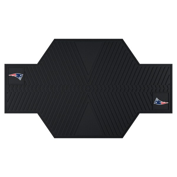 Fanmats New England Patriots Black Rubber Motorcycle Mat