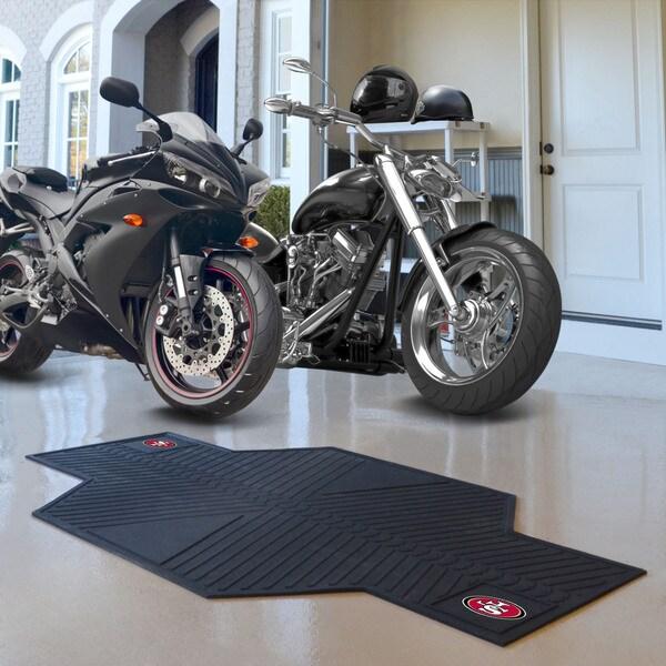Fanmats San Francisco 49ers Black Rubber Motorcycle Mat