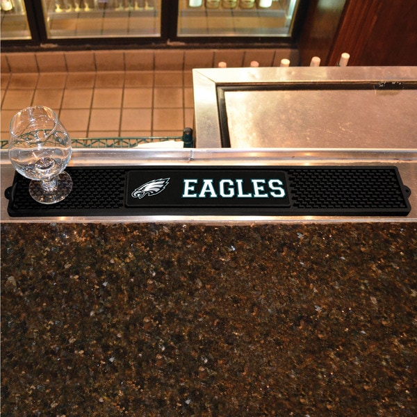 Fanmats Philadelphia Eagles Black Rubber Drink Mat