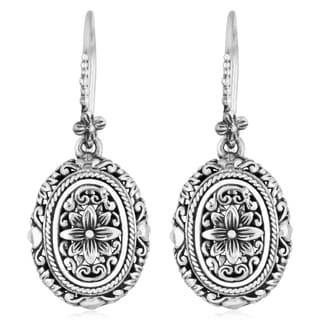 Sterling Silver Floral Paradise Cawi Earrings (Indonesia)