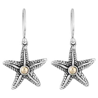 Handmade 18K Gold Sterling Silver 'Balinese Starfish' Cawi Earrings (Indonesia)|https://ak1.ostkcdn.com/images/products/10223633/P17344900.jpg?impolicy=medium