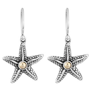 Handmade 18K Gold Sterling Silver 'Balinese Starfish' Cawi Earrings (Indonesia)