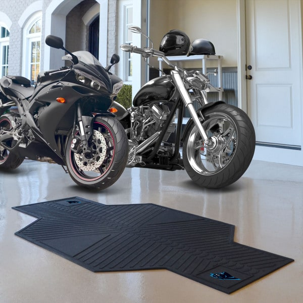 Fanmats Carolina Panthers Black Rubber Motorcycle Mat