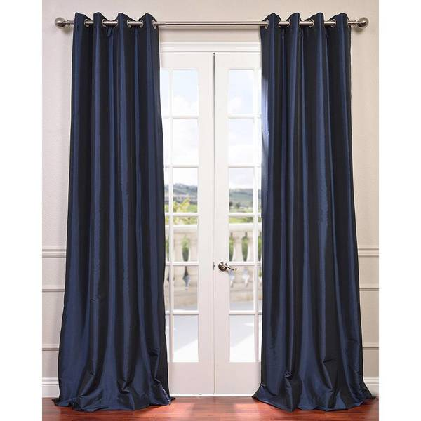Exclusive Fabrics Grommet Blackout Faux Silk Taffeta 96-inch Length Curtain Panel