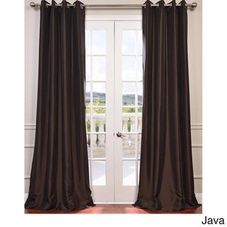 Exclusive Fabrics Grommet Blackout Faux Silk Taffeta 96-inch Length Curtain Panel (Java - 50 x 96)