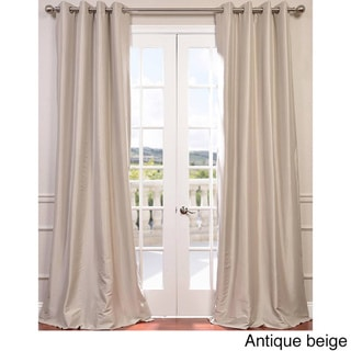 Exclusive Fabrics Grommet Blackout Faux Silk Taffeta 96-inch Length Curtain Panel