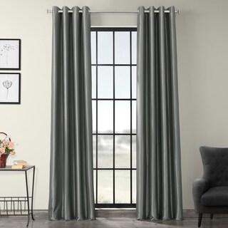 Exclusive Fabrics Grommet Blackout Faux Silk Taffeta 96 Inch Length Curtain  Panel