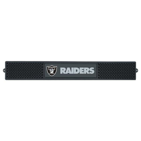 Fanmats Oakland Raiders Black Rubber Drink Mat
