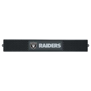 Fanmats Oakland Raiders Black Rubber Drink Mat