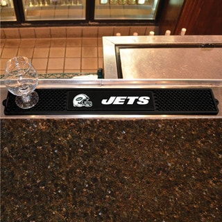 Fanmats New York Jets Black Rubber Drink Mat