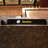 Fanmats Pittsburgh Steelers Black Rubber Drink Mat