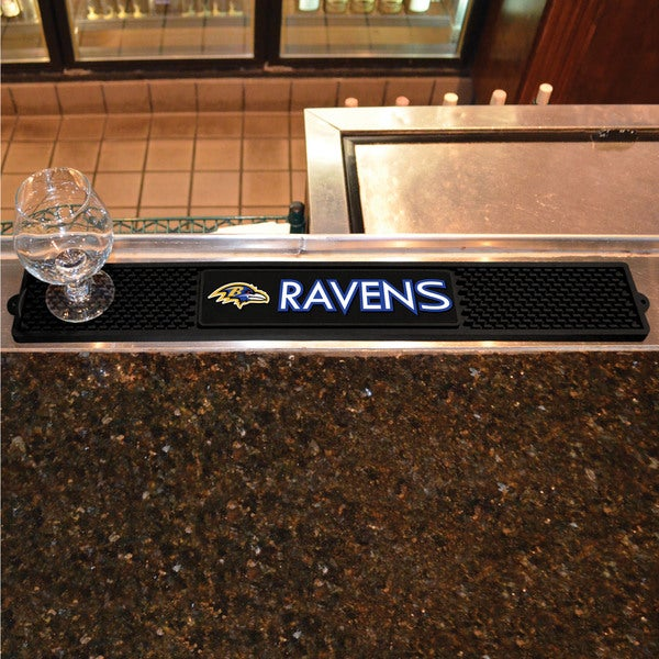 Fanmats Baltimore Ravens Black Rubber Drink Mat