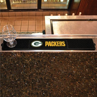 Fanmats Green Bay Packers Black Rubber Drink Mat