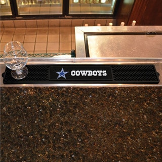 Fanmats Dallas Cowboys Black Rubber Drink Mat