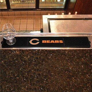 Fanmats Chicago Bears Black Rubber Drink Mat