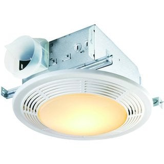 Broan Nutone 100 Cfm Ceiling Fan Light No Night Light Round White Grille 100 Watt Incandescent Light 8664rp Overstock 10223690