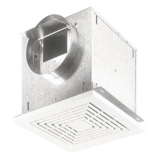 Broan Nutone Ventilator 210 CFM Horizontal 207 CFM Vertical 2.0 Sones Polymeric Grille. 8-inch Round Duct Connector 120V
