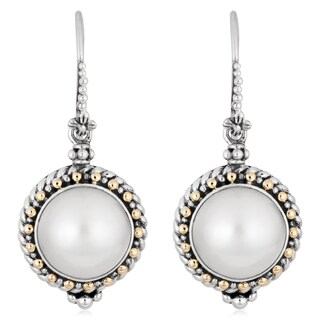 Handmade 18K Gold Sterling Silver Cultured Pearls 'Princess Fantasy' Earrings (Indonesia)