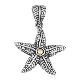 18K Gold Sterling Silver 'Balinese Starfish' Cawi Pendant (Indonesia)