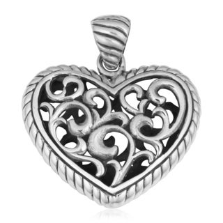 Sterling Silver 'Eternal Heart' Cawi Pendant (Indonesia)
