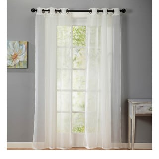 Home Fashion Designs Crushed Voile Sheer 84-Inch Curtian Panel Pair