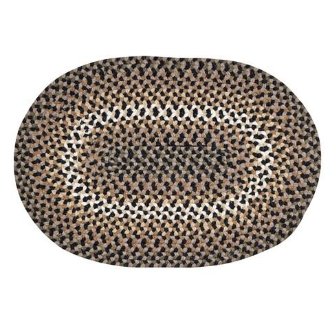 Woodbridge Braided Wool Rug (3'6 x 5'6) by Better Trends - 3'6 x 5'6