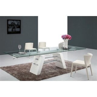 Casabianca Home Evolution Collection Glass Dining Table