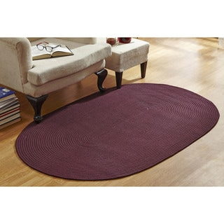 Solid Braided Indoor/ Outdoor Rug (5'4 x 8'4)