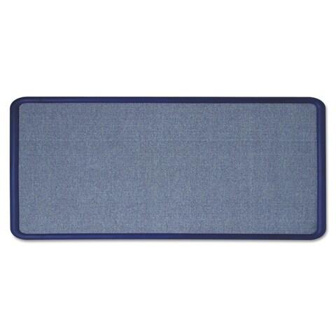 Quartet ContourLight Blue Fabric Bulletin Board