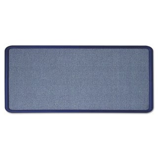 Quartet ContourLight Blue Fabric Bulletin Board