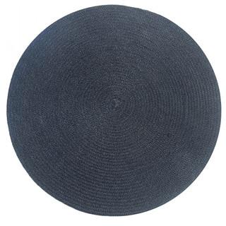 Solid Indoor/ Outdoor Braided Rug (6' x 6')