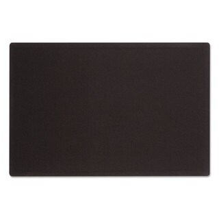 Quartet Oval Office Black Fabric Bulletin Board