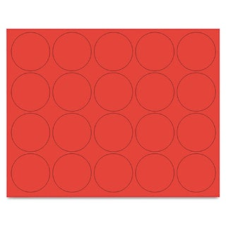 MasterVision Interchangeable Red Magnetic Characters (3 Packs of 20)