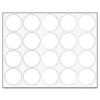 MasterVision Interchangeable White Magnetic Characters (3 Packs of 20)