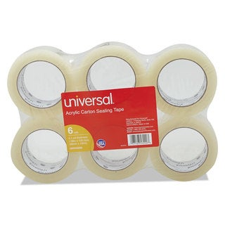 Universal Box Clear Sealing Tape (Pack of 6)