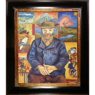 Vincent Van Gogh 'Portrait of Pere Tanguy' Hand Painted Framed Canvas Art