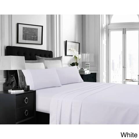 Super Soft Extra Deep Pocket Bed Sheet Set with Oversize Flat