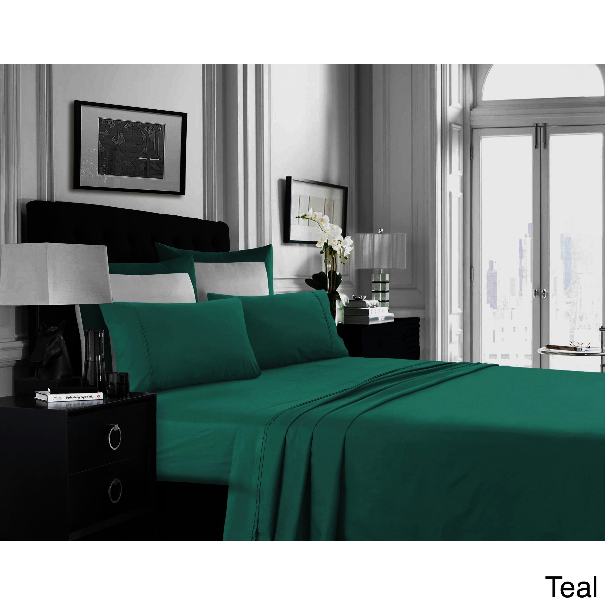 Plain Dyed Full Flat Sheet Bed Sheets Soft Poly Cotton Non-Iron SINGLE BED only