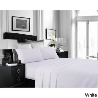 Super Soft Solid Extra Deep Pocket Easy-care Sheet Set with Oversize Flat (More options available)