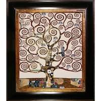 Gustav Klimt 'Tree of Life' (Luxury Line) Hand Painted Framed Canvas Art