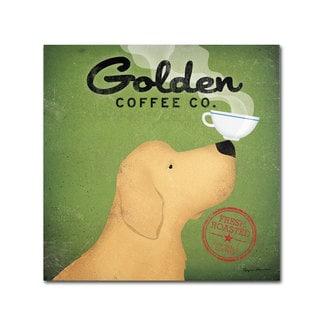 Ryan Fowler 'Golden Coffee Co' Canvas Art