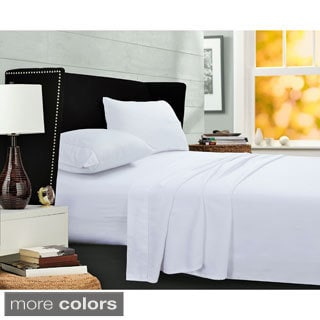 Egyptian Cotton Sateen 400 Thread Count Deep Pocket Sheet Set with Oversize Flat and Pillowcase