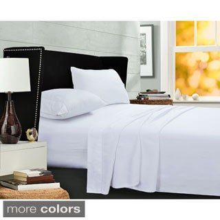 400 Thread Count Cotton Deep Pocket Sheet Set with Oversize Flat
