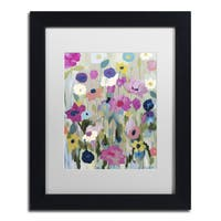 Carrie Schmitt 'Too Pretty To Pick' Matted Framed Art - Multi