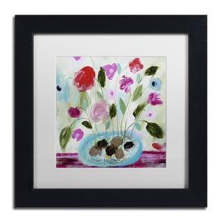 Carrie Schmitt 'Winter Blooms II' Matted Framed Art