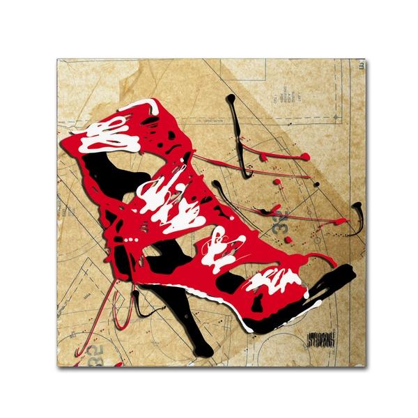 Roderick Stevens 'Red Strap Boot' Canvas Art